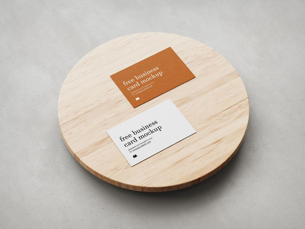 Free Business Card PSD Mockup Set
