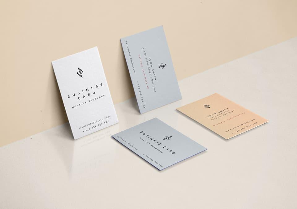 Free Business Cards Mockup Scene