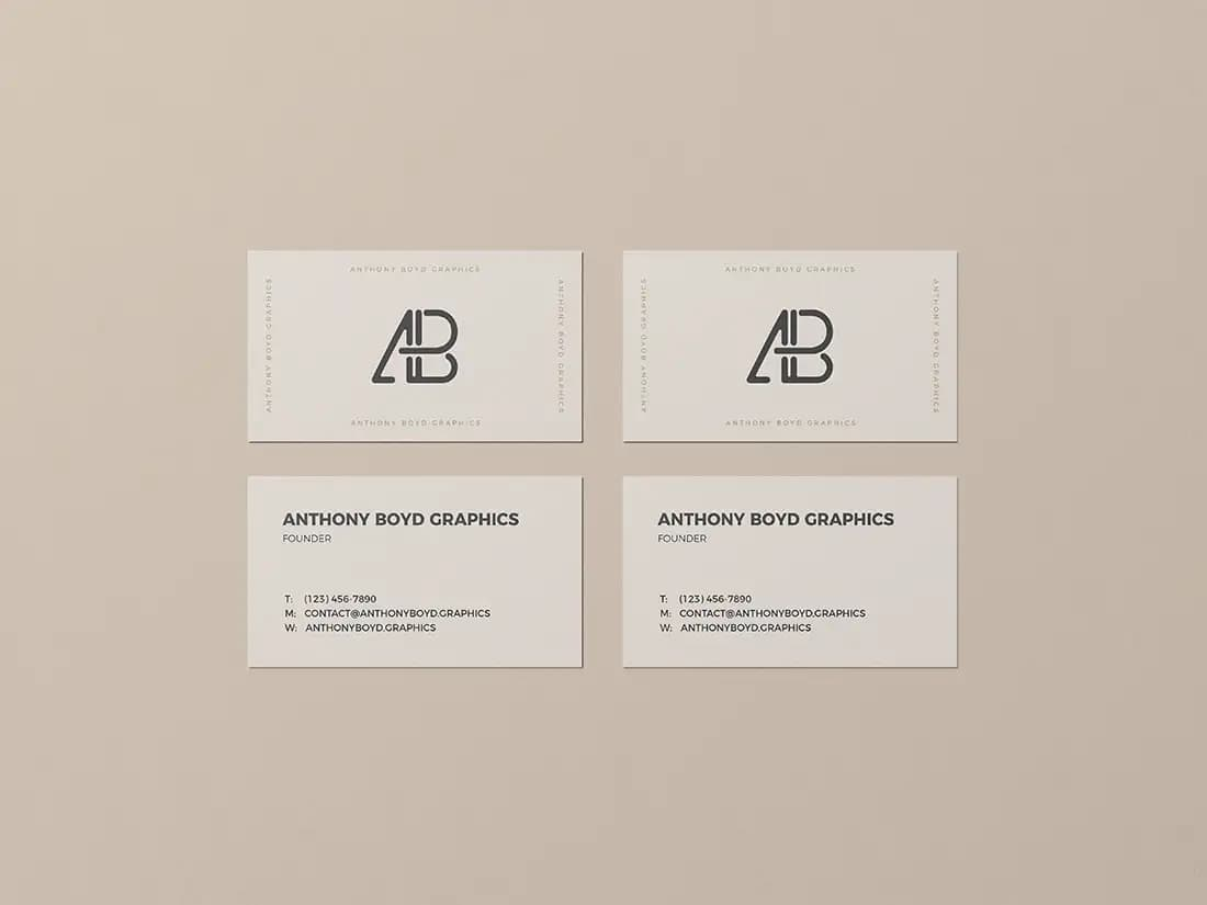 Free Clean Business Card PSD Mockup