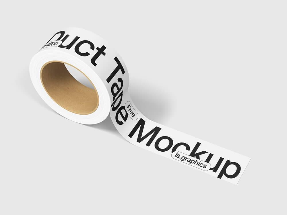 Free Duct Tape PSD Mockup