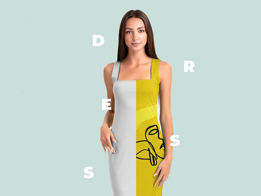 Free Elegant Dress PSD Mockup