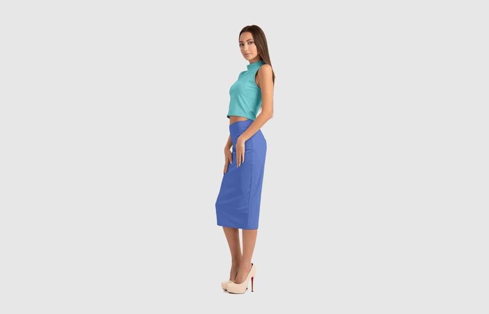 Free Elegant Skirt-Suit PSD Mockup