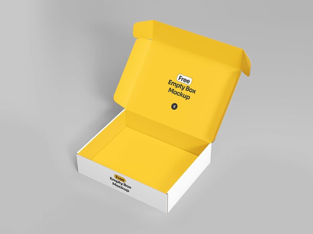 Free Empty Box PSD Mockups
