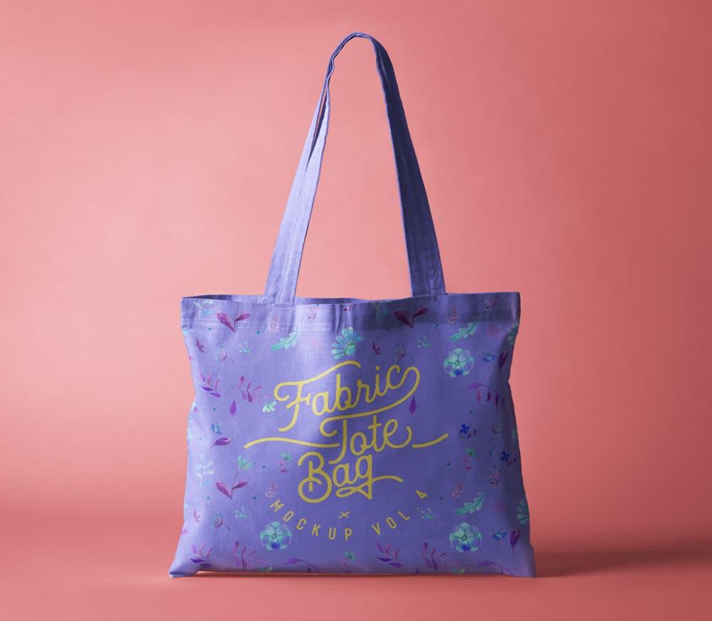 Free Fabric Tote Bag PSD Mockup