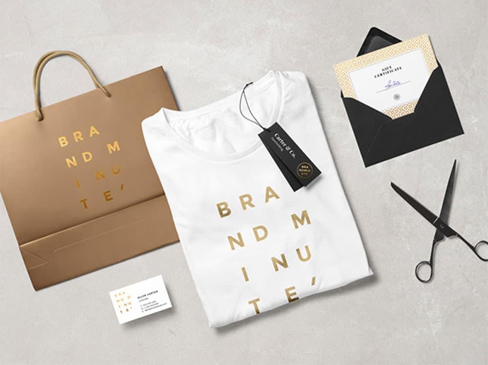Free Fashion Branding PSD Mockup Scene