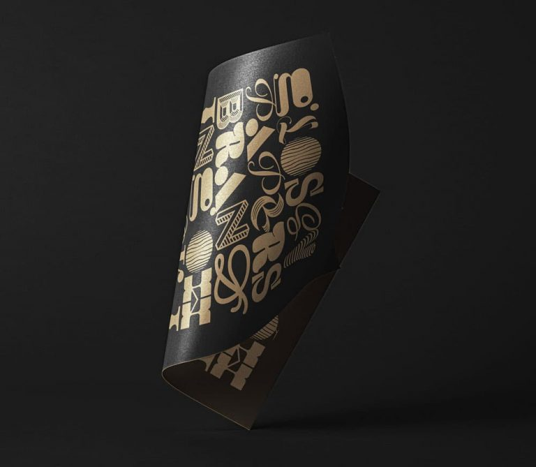 Free Folded Paper PSD Mockup