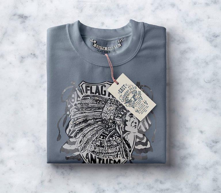 Free Folded Sweatshirt PSD Mockup