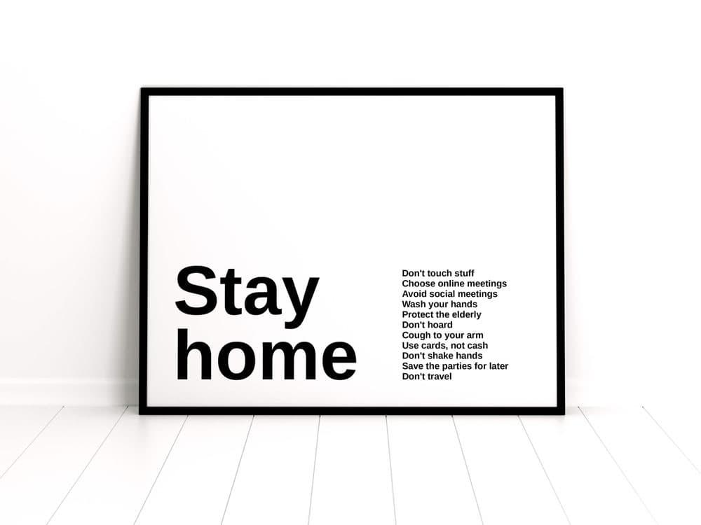 Free Framed Poster PSD Mockup