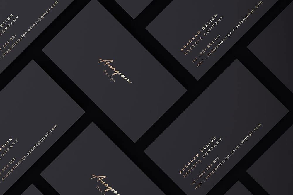 Free Gold Business Card PSD Mockup