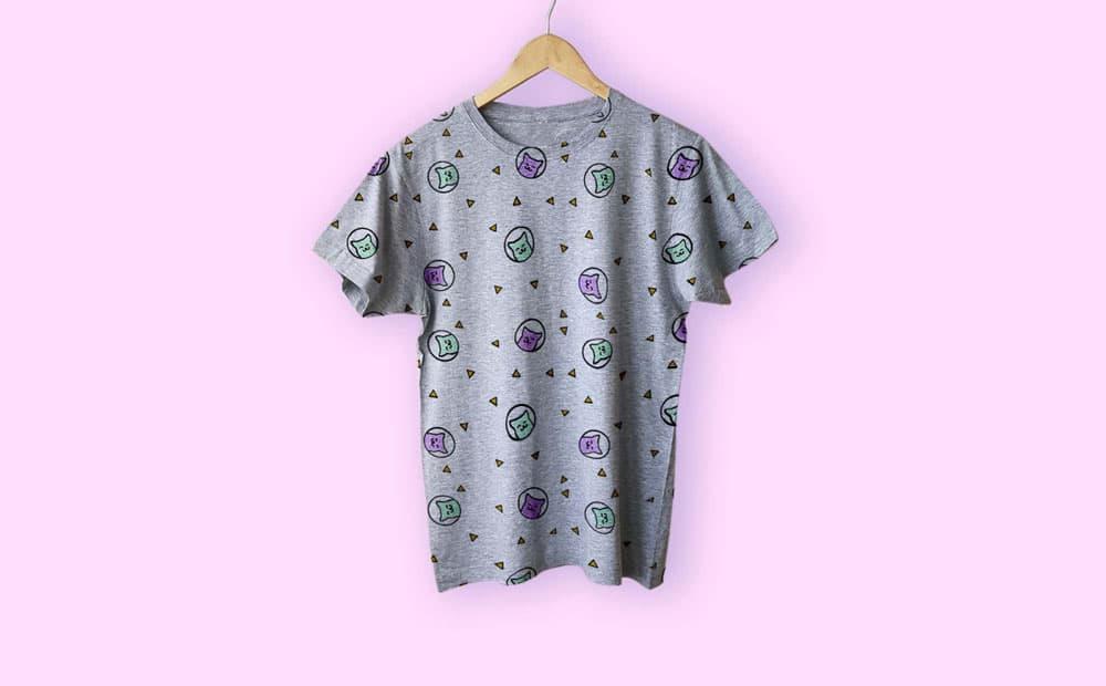 Free Hanged T-Shirt PSD Mockup