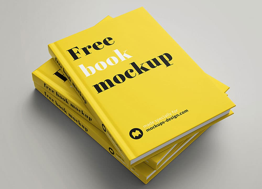 Free Hardcover Book PSD Mockups