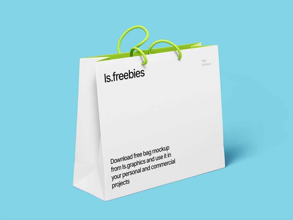 Free High Resolution Bag PSD Mockup