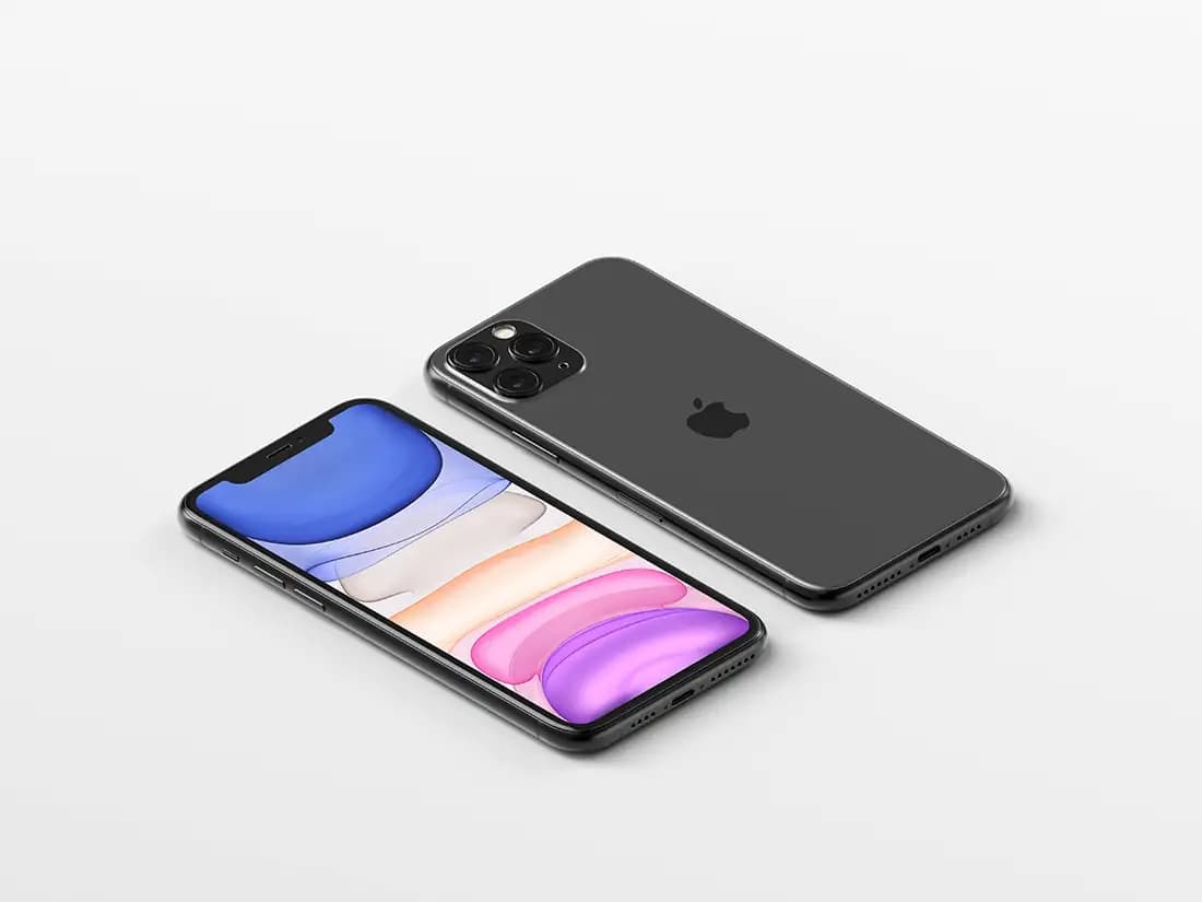 Free Front View Gold iPhone X PSD Mockup