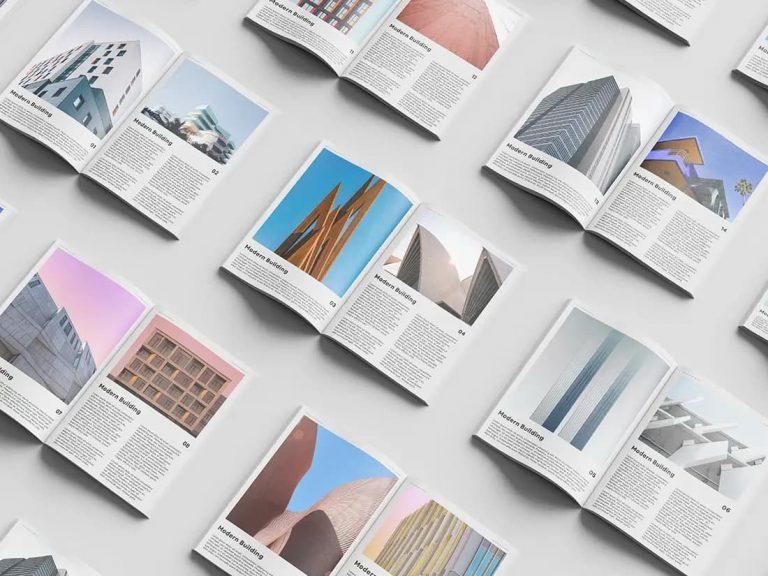 Free Magazine Set PSD Mockup