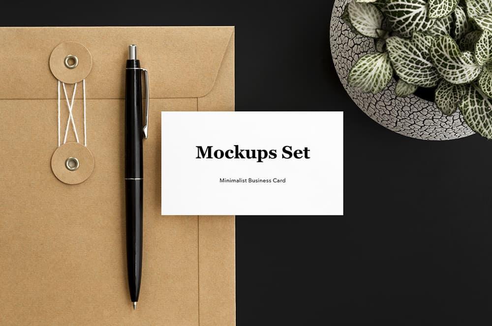 Free Minimalist Business Card PSD Mockup