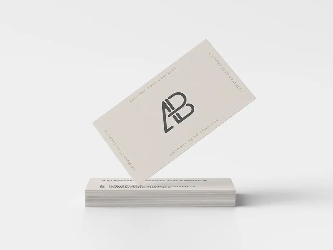 Free Modern Business Card PSD Mockup