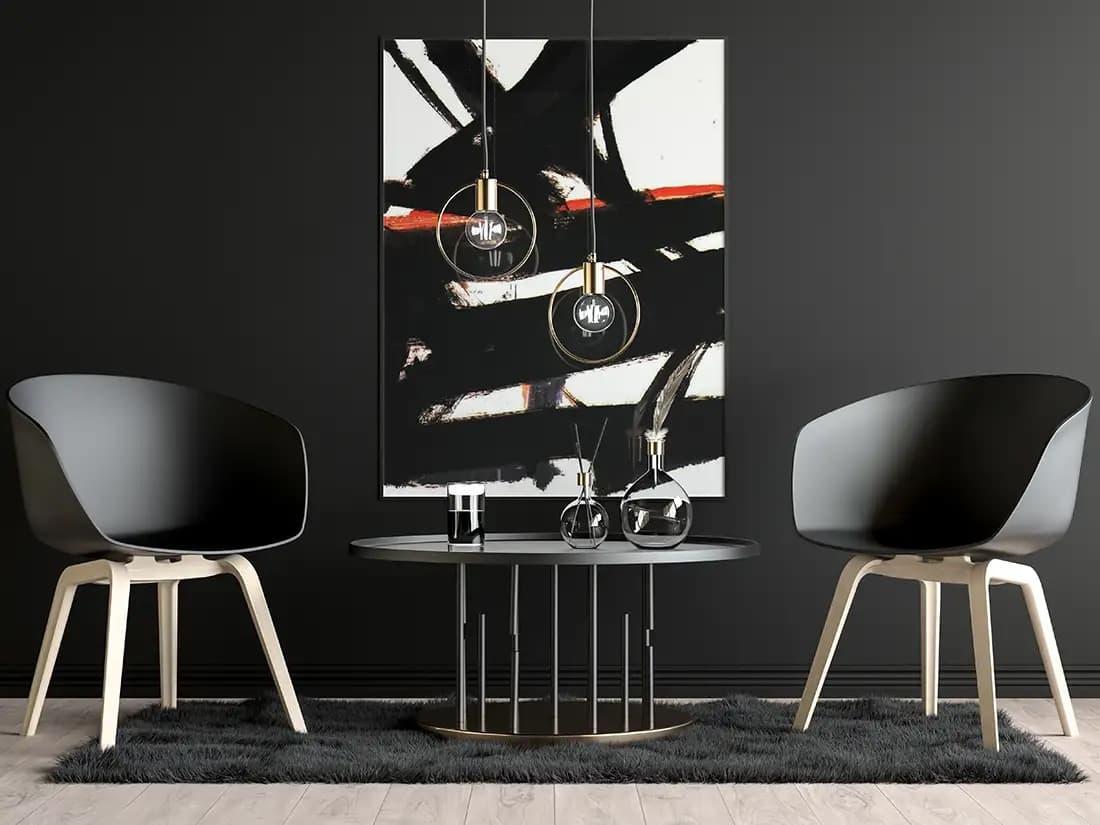 Free Modern Dark Poster PSD Mockup