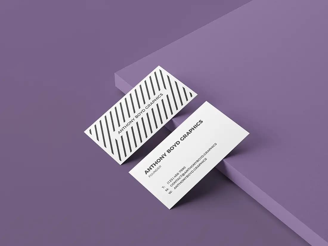 Free Multiple Colors Business Card PSD Mockup