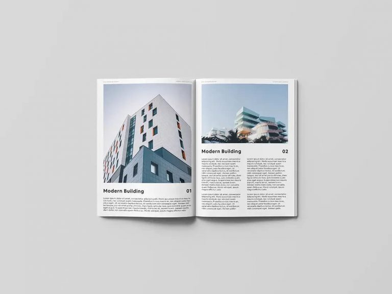Free Open Magazine PSD Mockup