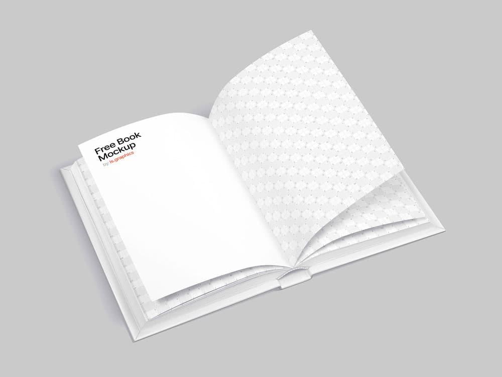 Free Opened Book PSD Mockup