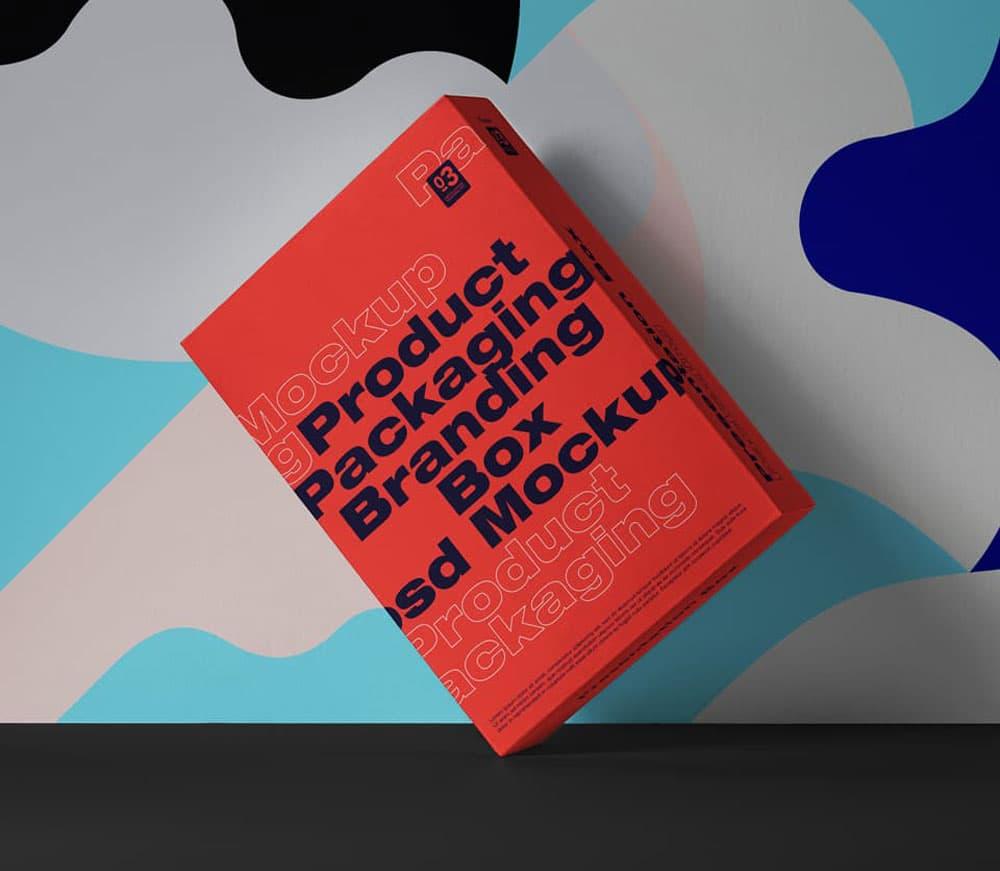 Free Packaging Box PSD Mockups