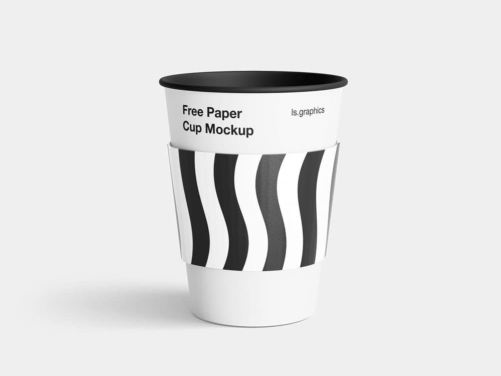 Free Paper Coffee Cup PSD Mockup