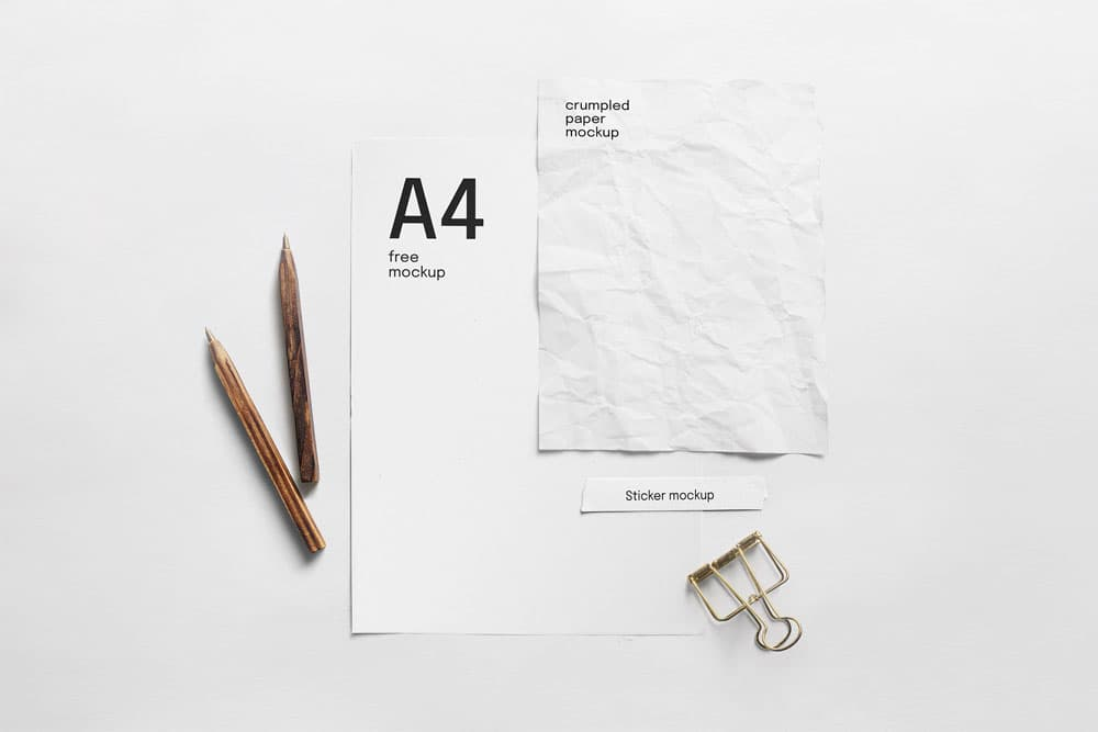 Free Paper Composition PSD Mockup