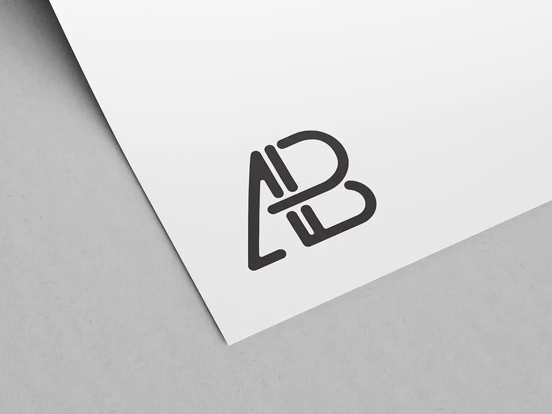 Free Paper Logo PSD Mockup
