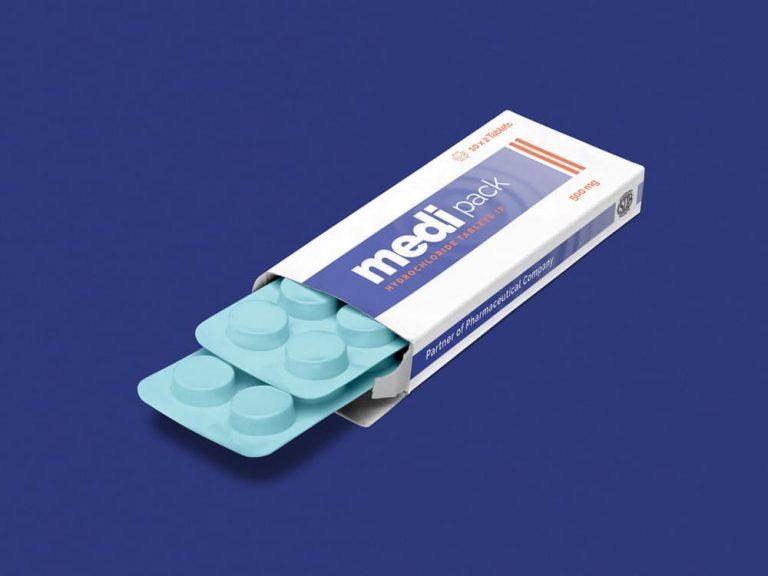 Free Pharmaceutical Packaging PSD Mockup