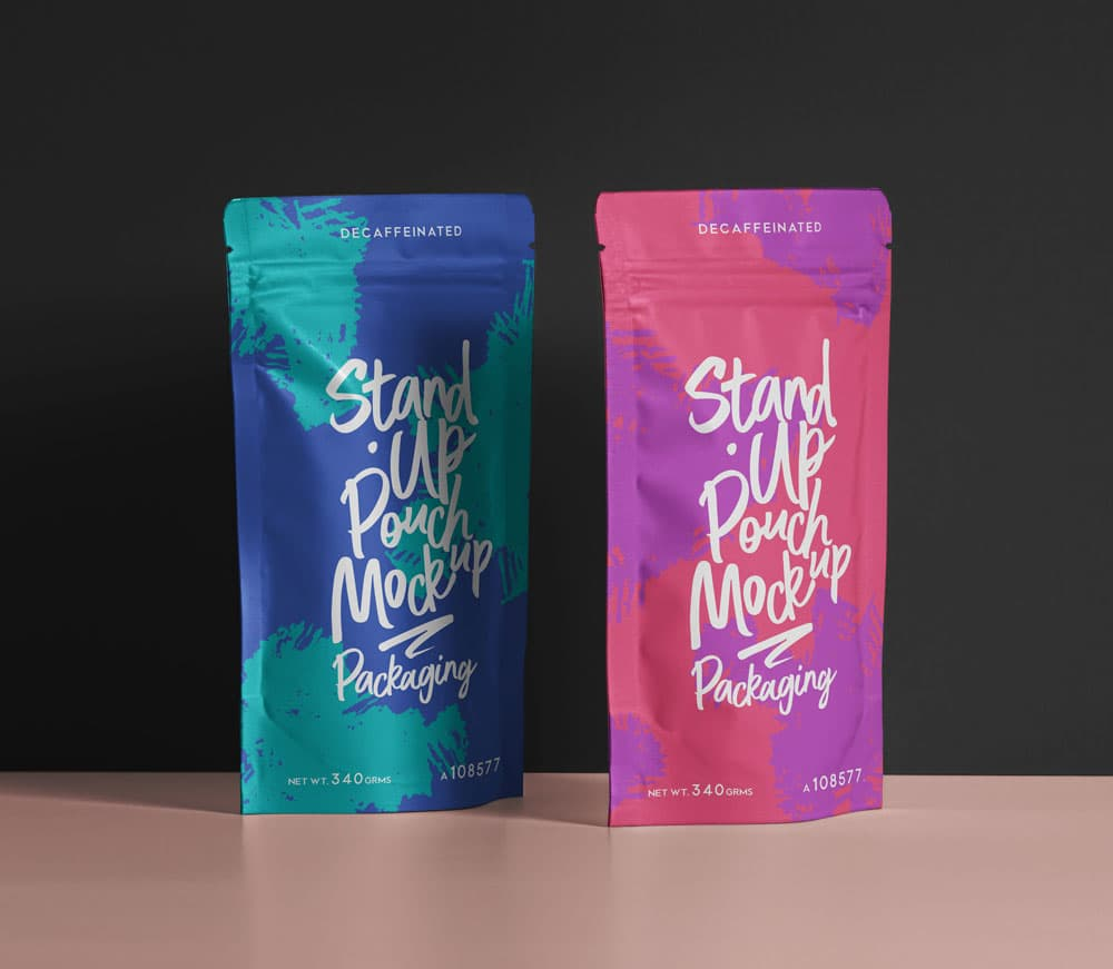 Free Pouch Packaging PSD Mockups