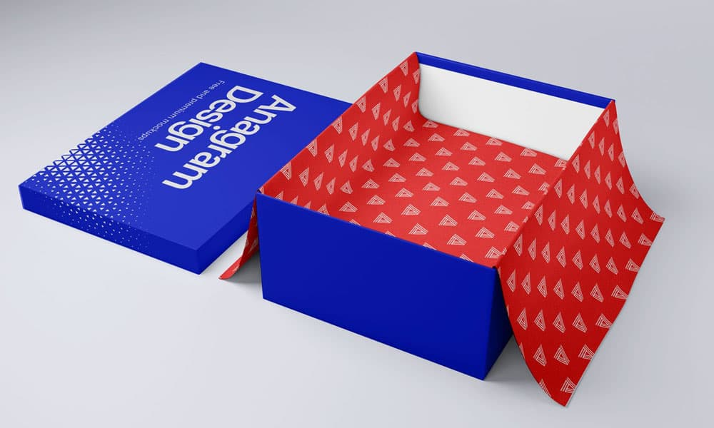 Free Shoe Box PSD Mockup