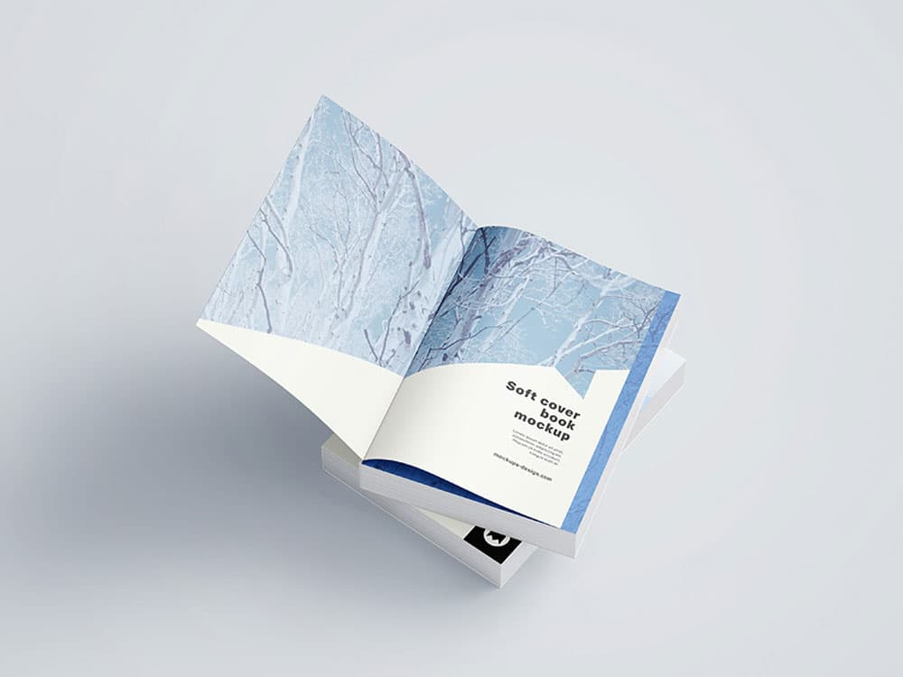 Free Softcover Book PSD Mockups