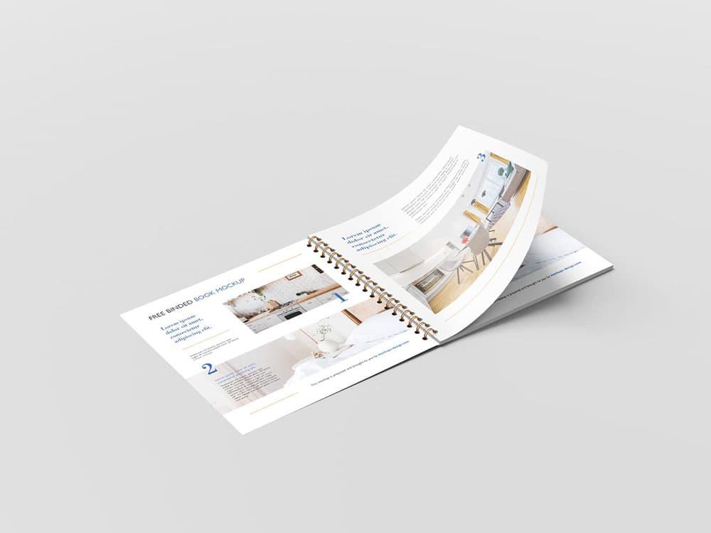 Free Square Brochure PSD Mockups