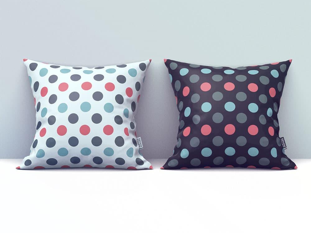 Free Square Pillow PSD Mockup