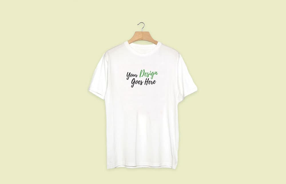 Free White T-Shirt PSD Mockup
