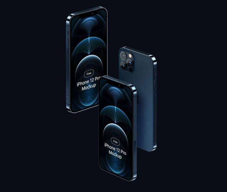Free iPhone 12 Pro PSD Mockup