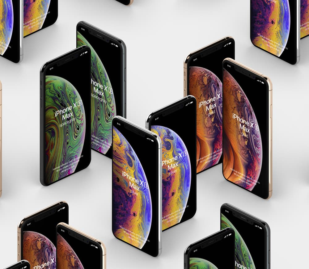 Free iPhone XS Max PSD Mockup