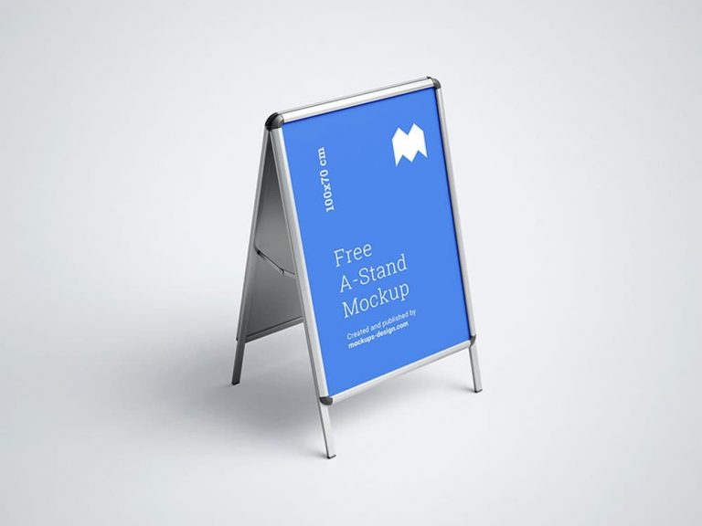 Free A-Stand PSD Mockups