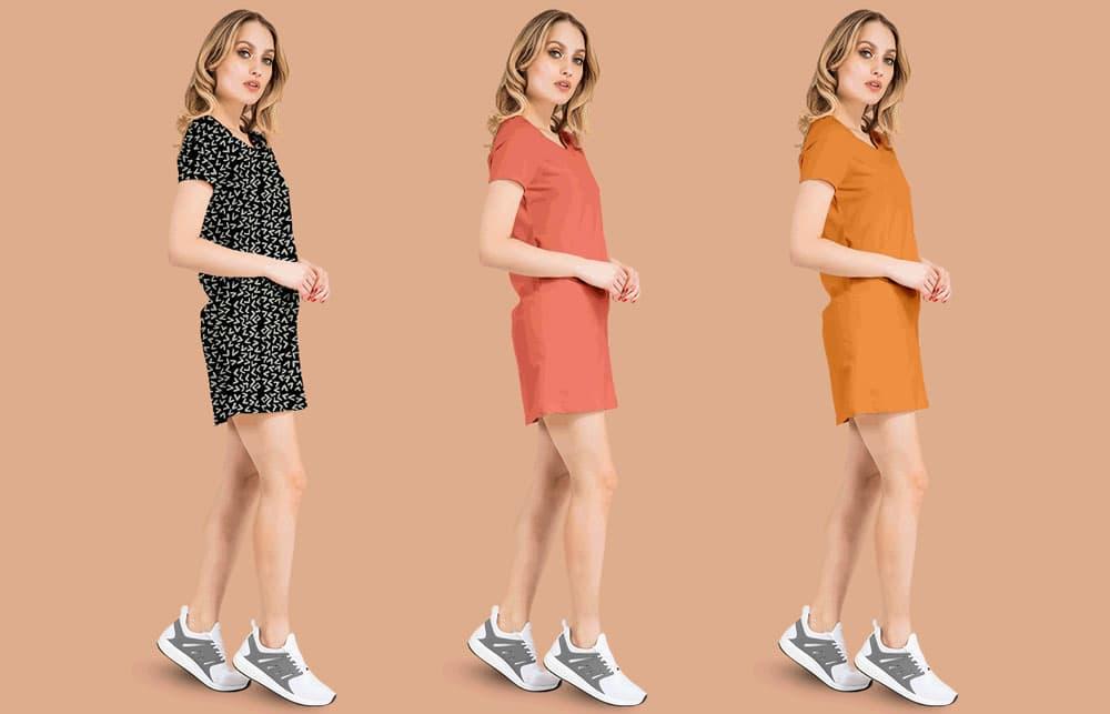 Free Basic Dress PSD Mockup