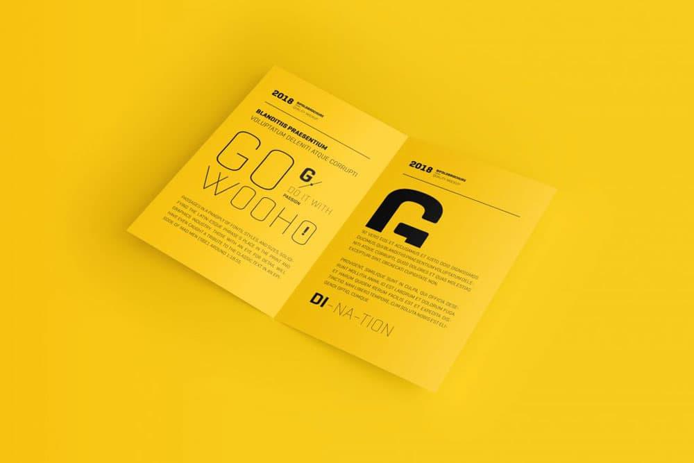 Free Bifold Brochure PSD Mockup