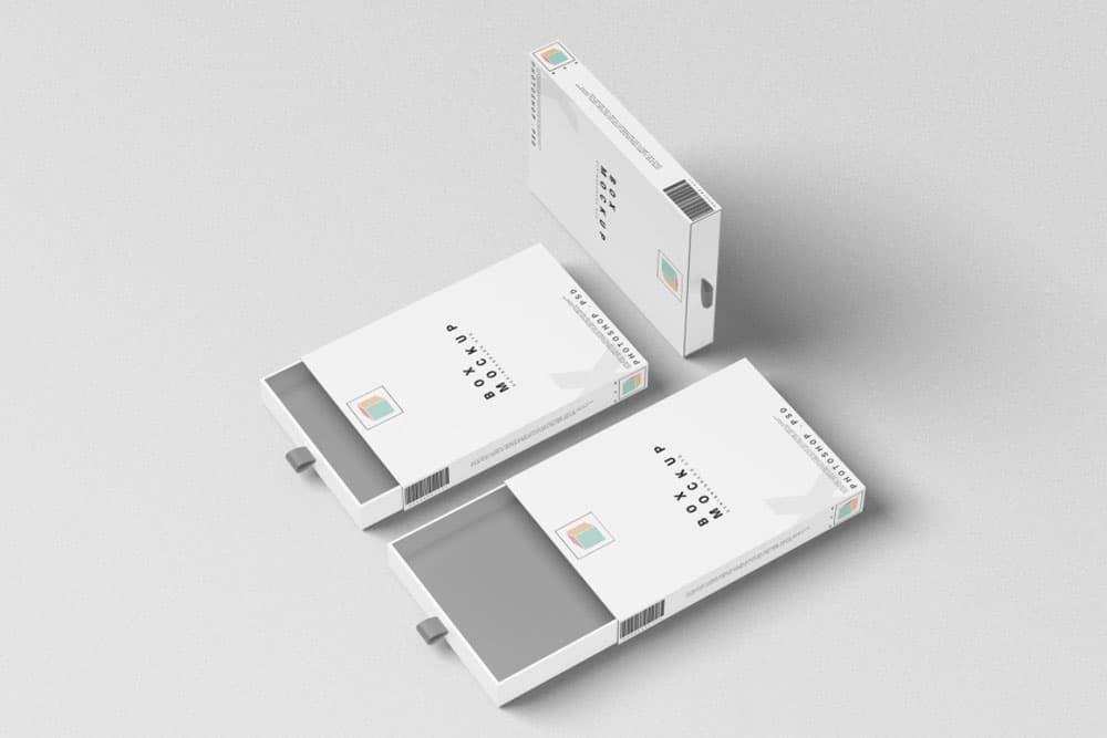 Free Box Packaging PSD Mockup