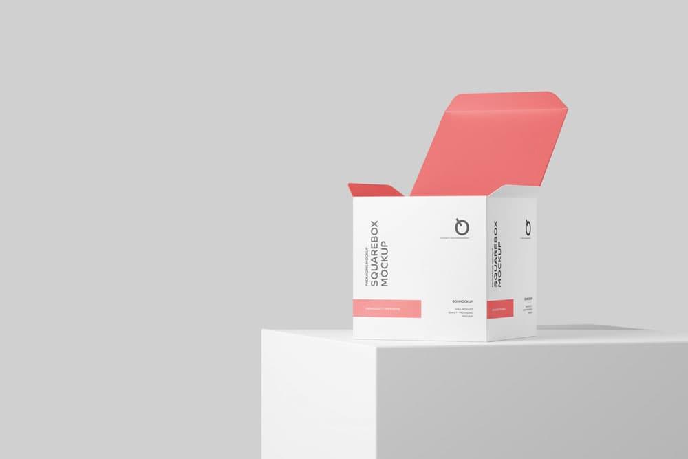 Free Box Packaging PSD Mockups