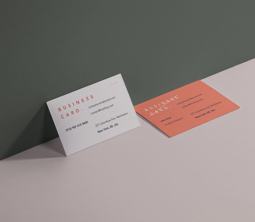 Free Business Card Branding PSD Mockup