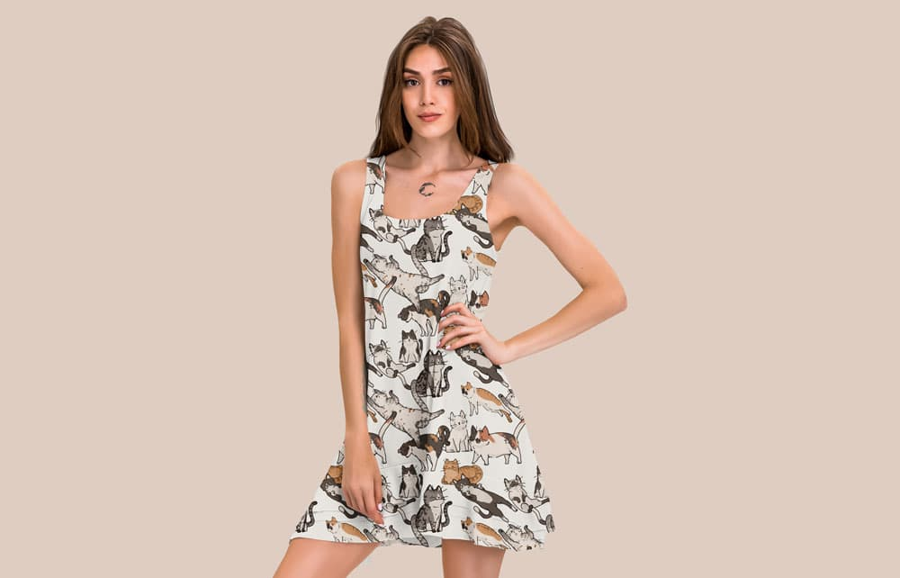 Free Casual Dress PSD Mockup