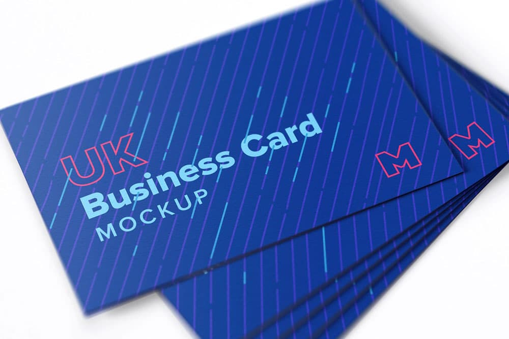 Free Close Up Business Cards PSD Mockup