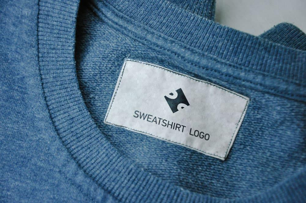 Free Clothing Label Tag PSD Mockup