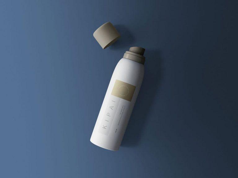 Free Cosmetic Spray Bottle PSD Mockup