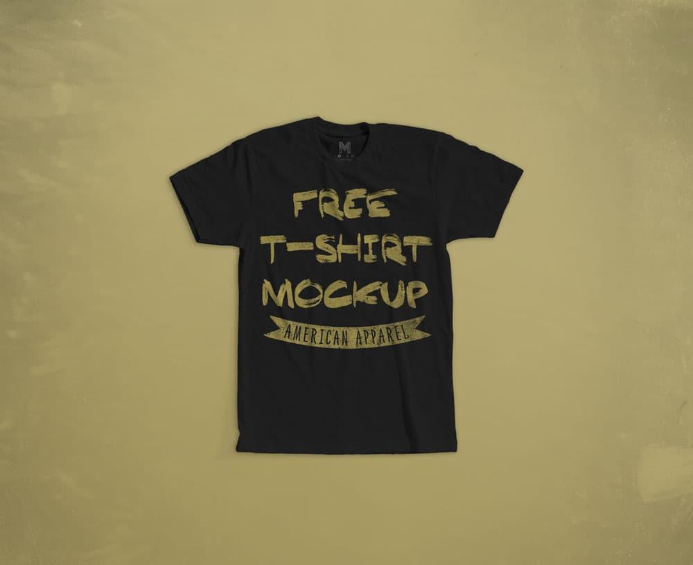 Free Cotton T-Shirt PSD Mockup