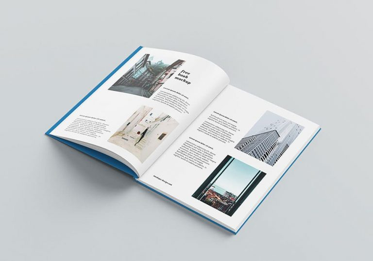 Free Hardcover A4 Book PSD Mockups