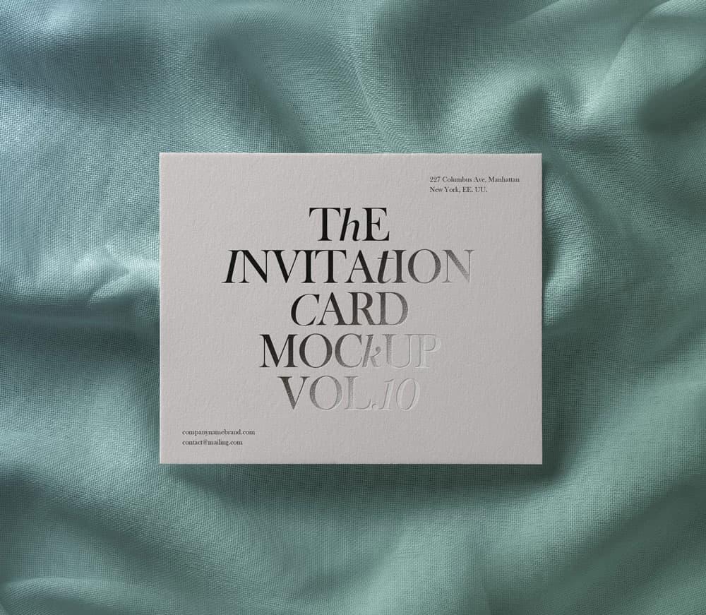 Free Invitation Card PSD Mockup